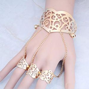 Jewelry - GOLD TONE ADJUSTABLE HAND HARNESS BRACELET